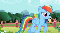 Rainbow Dash trotting S2E07