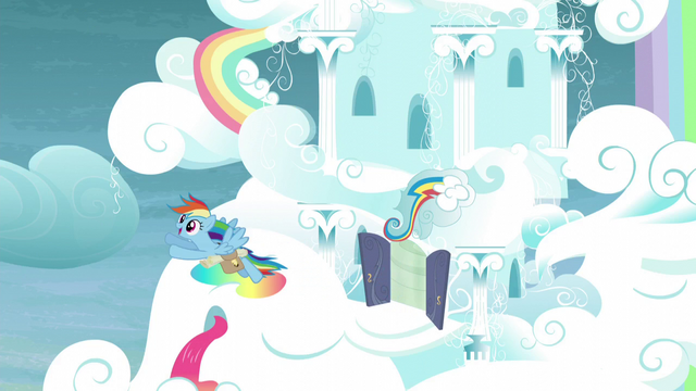 File:Rainbow flying out of her house S5E3.png