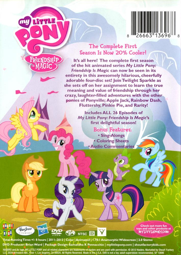 Image - Season 1 DVD back cover.jpg | My Little Pony ...