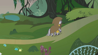 Zecora entering the Everfree Forest S1E09