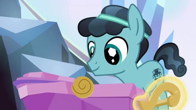 File:Crystal Hoof stands over Flurry Heart's cradle S6E16.png