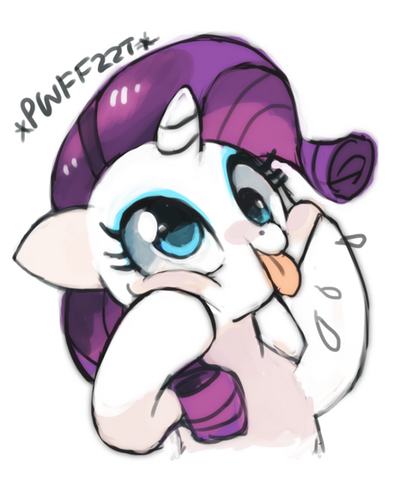 File:FANMADE Rarity silly face by suikuzu.png