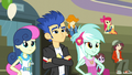 Flash, Lyra, and Sweetie Drops try to be friendly EG3.png