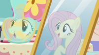 """Fluttershy's reflection """"thanks for asking!"""" S7E12"""