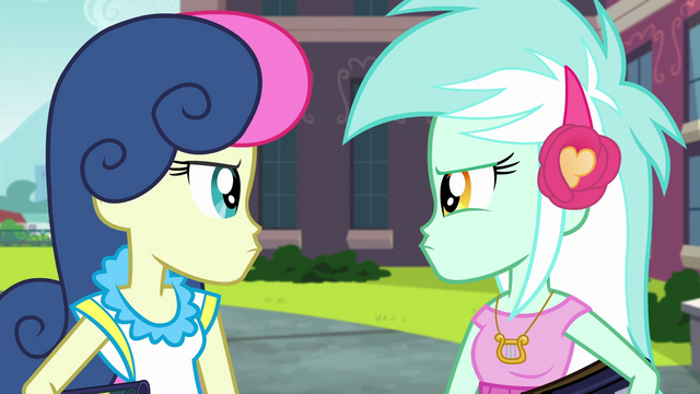 File:Lyra and Sweetie Drops get angry EG3.png