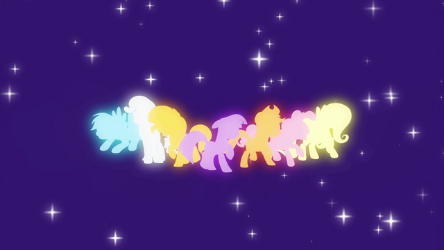 File:Main cast and Sunset Shimmer pony silhouettes EG2.png