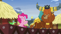 Pinkie Pie applauding Prince Rutherford's story S7E11.png