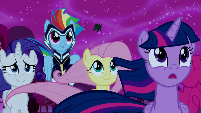 File:Rarity, Rainbow, and Fluttershy supporting Luna S5E13.png