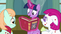 Twilight Sparkle reading Gusty the Great S7E3