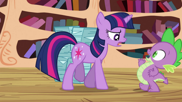 File:Twilight angry at Spike S3E1.png