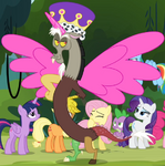 Discord dressed as an alicorn ID S4E25.png