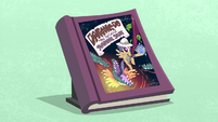 First edition Daring Do book with blue background S4E22