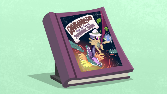 File:First edition Daring Do book with blue background S4E22.png
