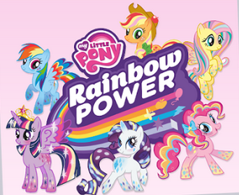 File:MLP Rainbow Power logo and Mane 6.png