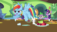 Rainbow Dash accuses Discord of flooding Sweet Apple Acres S03E10