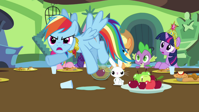 File:Rainbow Dash accuses Discord of flooding Sweet Apple Acres S03E10.png