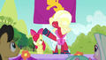 Orchard Blossom's mane falls over her eyes S5E17.png