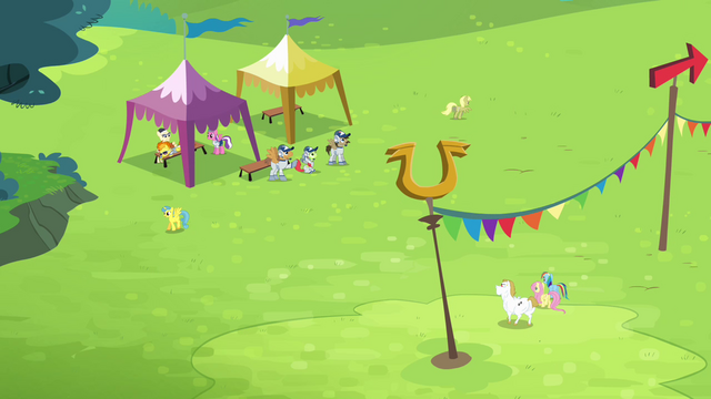 File:Rainbow, Fluttershy and Bulk walking together S4E10.png