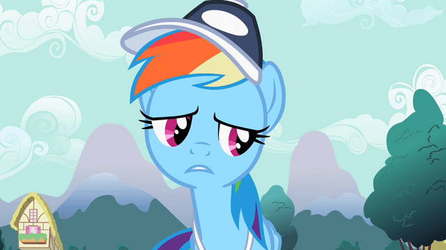 "File:Rainbow Dash ""You're starting"" S2E07.png"
