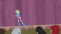 Rainbow Dash addresses the students EG3