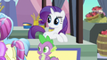Rarity & Spike enjoy progress S3E2.png