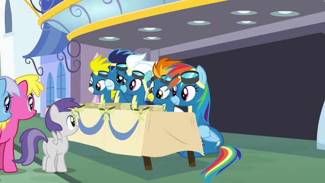 File:The Wonderbolts at an autograph signing S7E7.png