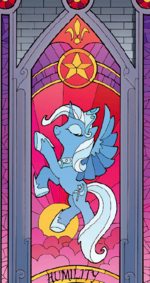 Trixie Alicorn Stained Glass Window Comic 18