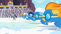 Wonderbolts getting ready to race S2E9