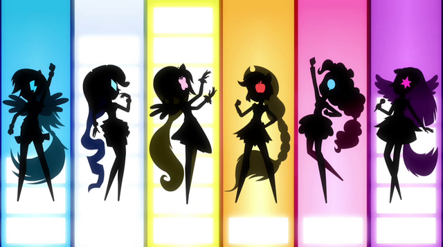 File:Row of Mane Six silhouettes EG2.png