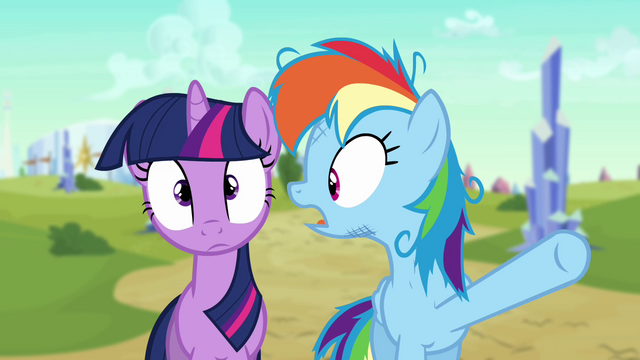 "File:Twilight and Rainbow Dash ""the wrong pony?!"" S3E12.png"