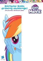 MLP The Movie activity sheet - Rainbow Dash drawing challenge