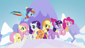Mane Six trotting through winter S7E2.png
