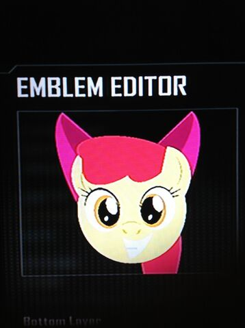 File:FANMADE Apple Bloom Black Ops 2 Emblem.jpg