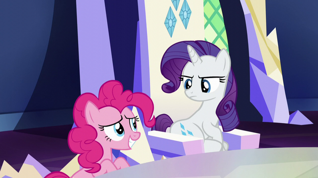 File:Pinkie embarrassed; Rarity annoyed S5E22.png