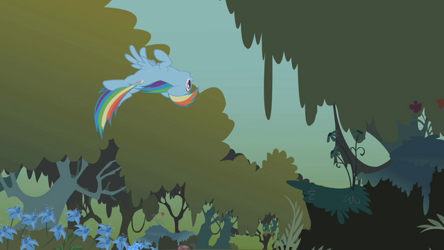File:Rainbow flying upside-down through the forest S1E09.png