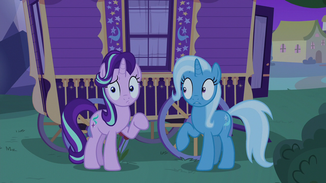 File:Starlight and Trixie hear Thorax's voice S6E25.png