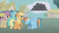 Thundercloud forms above Rainbow Dash S1E06