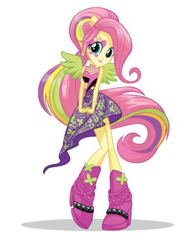 File:Fluttershy EG Rockified artwork.png