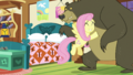 Fluttershy thanking Harry S5E21.png