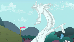 Statue of Discord cracking S2E01.png
