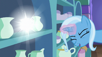 Trixie casts transfiguration on a pitcher S7E2