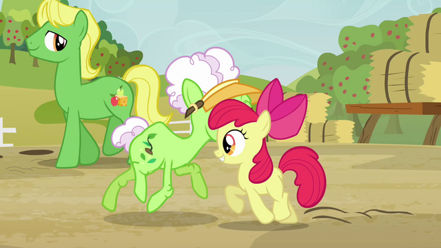 File:Apple Bloom and Auntie Applesauce do-si-do S3E8.png