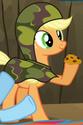 Applejack camo outfit ID S2E21