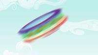 Rainbow spinning around S4E18