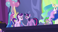 Twilight Sparkle congratulates Starlight S7E1