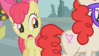 Apple Bloom mortified that Twist got her cutie mark S01E12