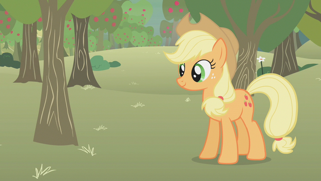 File:Applejack standing in the middle of the farm S1E12.png