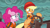 Applejack unable to steer the ship S6E22