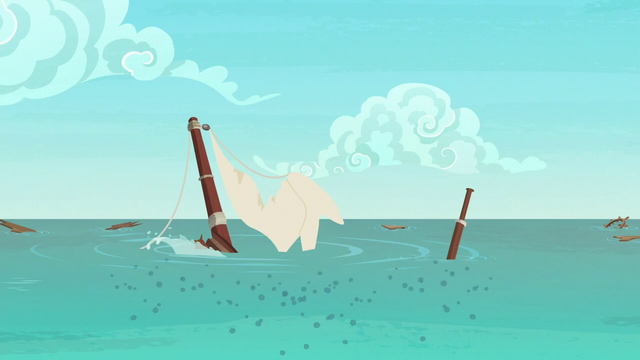 File:The ponies' boat sinks into the water S6E22.png