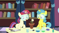 Filly Moon Dancer and Lemon Hearts grow a flower S7E1.png